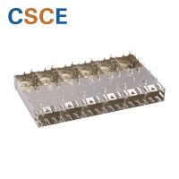 China 1 * 6 Ports SFP Cage Connector Dust Plug Cap Cover Communication Module on sale