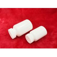 China Stick Label 60mm Plastic Pill Bottles Broken Proof With Aluminium Liner wholesale