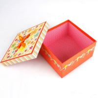 China 5 * 5 * 4 Inch Cardboard Candy Gift Box, Chocolate Packaging Boxes With Coated Paper Cover on sale