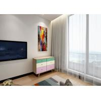 China E1 Board With Solid Wood Legs Six Door Drawer Chest , Easy To Clean And Assemble wholesale