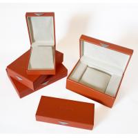 China Customized Wood or cardboard gift box packaging with Embossing Logo for jewellery on sale
