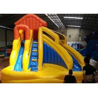 China Children Small Home Backyard Inflatable Water Slide With Pool 3 In 1 on sale