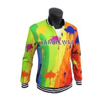 China Stylish Sublimation Casual Polyester Sports Jacket With Pockets Comfortable wholesale