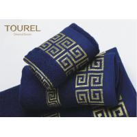 China Luxury Hotel Bath Towels16s Blue Color Hotel Collection Towels wholesale