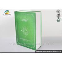 China Book Shaped Cosmetic Packaging Boxes UV Coating Printing Face Mask Gift Box wholesale