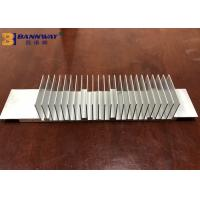 China Quick 6063-T5 Anodized Silver / Black Electronic Industry Extruded Heatsink Profile India Aluminium Extrusion Profiles wholesale