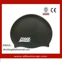 China Silicone colorful printed swimming caps wholesale