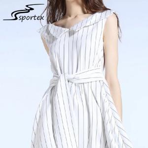China High Waist Bowknot Knee Length Dresses Customized Size Light Weight OEM / ODM wholesale