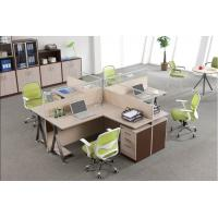 China Custom Office Furniture Partitions With Storage Cabinet , 4 Person Workstation Desk wholesale