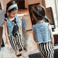 China 2016 Fashion Girl  Kid's Jacket with Burr Rivets SY070 wholesale