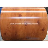 China Brick / Wooden Grain Pre Painted Galvalume Sheets , Precoated Galvalume Sheets For Decoration wholesale