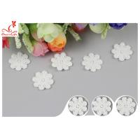 China Original Cotton Small Flower Lace Collar Applique With DTM Dyeing wholesale