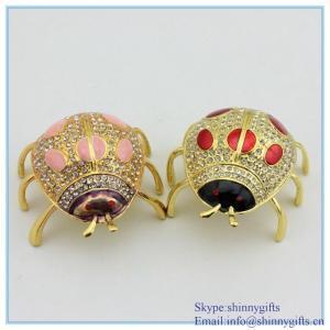 China Cheaper Pirce Jeweled Ladybug Trinket Box, Exquisite Ladybug Trinket Box with Crystal wholesale