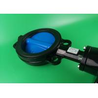 China Modulatig On Off Wafer Style Butterfly Valve  DN50 DN65 DN80 Black High Torque on sale