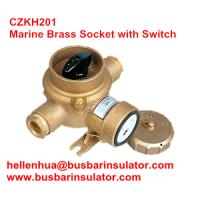 China 10A/16A marine brass socket with switch CZKH109 IP56 adopted standard DIN89263 wholesale