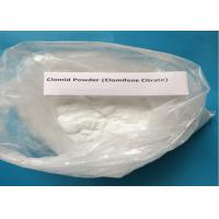 China 99% Purity Clomifene Citrate / Raw Hormone Powders White Crystalline CAS 50-41-9 wholesale