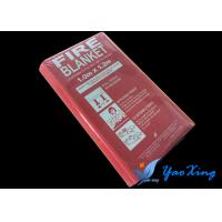China E-Glass Silicone Coated Fire Blanket Smooth And Soft Surface 1.0*1.2 M wholesale