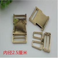 China 1 inch Hardware gold metal side quick release curved buckles for pet dog collar wholesale