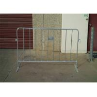 China Professional PVC Coated HDG Metal Crowd Control Barriers OD 25*2.0mm wholesale