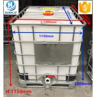 China Poly used plastic ibc tank container tote 1000l with steel cage wholesale