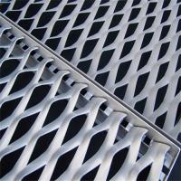 China Architectural Building Expanded Metal Lath Mesh Curtain Wall With Fixing L Type Frame wholesale