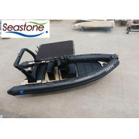 China 680cm Orca Hypalon Rigid Hulled Inflatable Boat Black Color 1.2mm Thickness on sale