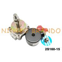 China 2/2 Way G 1/2 Inch Normal Close Solenoid Valve Stainless Steel Body 2S160-15 AC220V wholesale