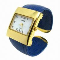 China Unique Design Bangle Watch with Alloy Cover, Alloy Case, Japan Movement, Waterproof, 3ATM wholesale