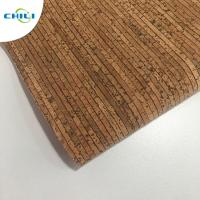 China 0.4±0.05mm Thick Thin Cork Roll , Wine Cork Fabric For Shoes Bags Wallpaper wholesale