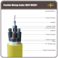 China Coal Mining Flexible Rubber Cable , 1 Ground Core Rubber Sheath Cable wholesale