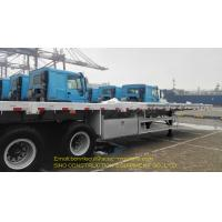 China Carbon Steel Container Semi Trailer 3 Axle Flatbed Container Trailer 40ft on sale