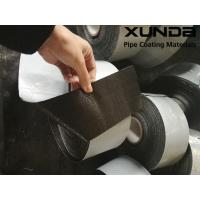 China Geotextile backed Polypropylene Fiber Woven Tape , protective pipeline coating bituminous tape wholesale