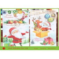 China Unique Christmas Thank You Cards Circular / Oval Seasons Greetings Cards wholesale