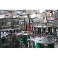 China Hot Temperature Juice Filling Capping Labeling Machines With Return System wholesale