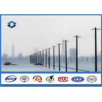 China Transmission Distribution Line Conical metal power pole AWS D1.1 Welding on sale