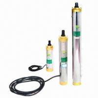 China Solar Water Pump System, DC/AC, Portable, Controller, Submersible Pumps with 27V, 210W x 3 Power wholesale