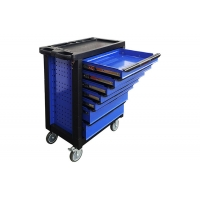 China Heavy Duty Black Blue 7 Drawer 27 Inch Tool Cabinet Rolling Storage wholesale