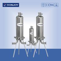 """China 10"""" Microporous Cartridge Pipeline Filter Single Core SS316L Clamp Type wholesale"""