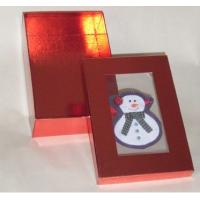 China 5 * 8 * 3.5 Inch Gloss Lamination Paper Decorating Gift Boxes With Clear Pvc Window wholesale