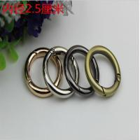 China Polished gold inner diameter 25mm metal spring o ring carabiner open ring wholesale