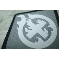 China Custom Silver Reflective Screen Printing Label , Soft TPU Patch For Garment wholesale