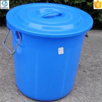 China Round shape 50 liter plastic bucket with lid and handle wholesale