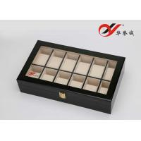China Eco Friendly Leather Watch Packaging Box 12 Units With Engrave / Stamping Logo wholesale