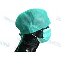 China Green Medical Disposable Surgical Caps Non Woven Tie On Back Type For Hospital wholesale