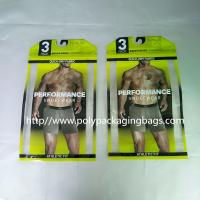 China Thick PE Underwear Resealable Plastic Bags , Clothing Store Sticky Bone Foil Zip Lock Bags wholesale