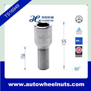 China Tuner wheel M12 x 1.5 lug bolts , 28mm shank / total length 55mm wholesale