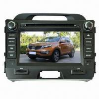China Car DVD GPS for 2011 KIA Sportage, with Real-time Clock Function and External iPod Playing wholesale
