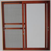 Powder coated, wood grain color aluminum sliding glass doors with 5mm - 12mm glass Manufactures