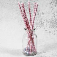 China 6mm small caliber pearl milk pink Horizontal stripes color Biodegradable Paper Drinking Straws wholesale