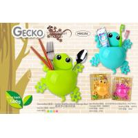 China TOOTHBRUSH & TOOTHPASTE HOLDER - GECKO DESIGN (4 ASSORTED COLORS) wholesale